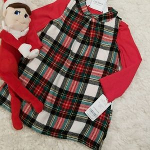 Carter's Christmas Plaid 2-piece Dress NWT Size 9m